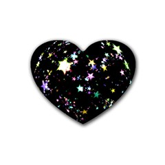 Star Ball About Pile Christmas Rubber Coaster (Heart)