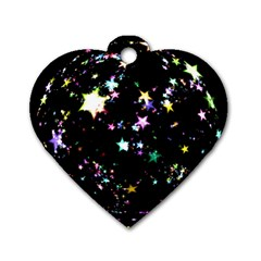 Star Ball About Pile Christmas Dog Tag Heart (One Side)
