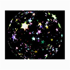 Star Ball About Pile Christmas Small Glasses Cloth (2-Side)