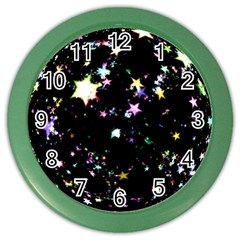 Star Ball About Pile Christmas Color Wall Clocks