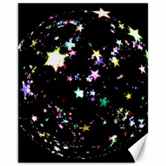 Star Ball About Pile Christmas Canvas 11  x 14