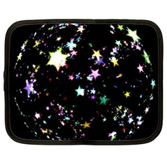 Star Ball About Pile Christmas Netbook Case (Large)