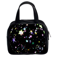 Star Ball About Pile Christmas Classic Handbags (2 Sides)