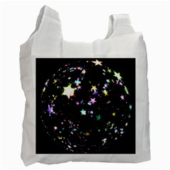 Star Ball About Pile Christmas Recycle Bag (One Side)