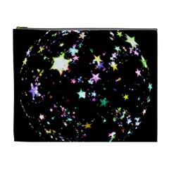 Star Ball About Pile Christmas Cosmetic Bag (XL)