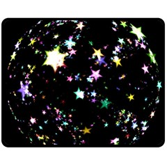 Star Ball About Pile Christmas Fleece Blanket (Medium)