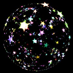 Star Ball About Pile Christmas Magic Photo Cubes