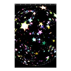 Star Ball About Pile Christmas Shower Curtain 48  x 72  (Small)