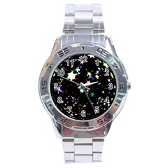 Star Ball About Pile Christmas Stainless Steel Analogue Watch