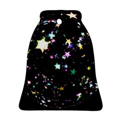 Star Ball About Pile Christmas Bell Ornament (Two Sides)
