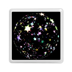 Star Ball About Pile Christmas Memory Card Reader (Square)