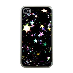 Star Ball About Pile Christmas Apple iPhone 4 Case (Clear)