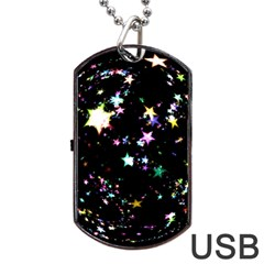 Star Ball About Pile Christmas Dog Tag USB Flash (Two Sides)