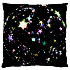 Star Ball About Pile Christmas Large Cushion Case (Two Sides)