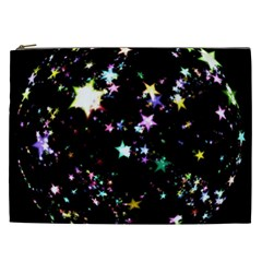 Star Ball About Pile Christmas Cosmetic Bag (XXL)