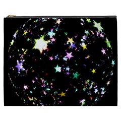 Star Ball About Pile Christmas Cosmetic Bag (XXXL)