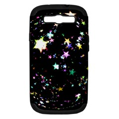 Star Ball About Pile Christmas Samsung Galaxy S III Hardshell Case (PC+Silicone)