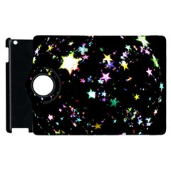 Star Ball About Pile Christmas Apple iPad 2 Flip 360 Case
