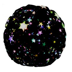 Star Ball About Pile Christmas Large 18  Premium Round Cushions