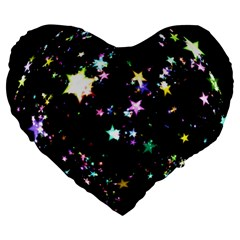 Star Ball About Pile Christmas Large 19  Premium Heart Shape Cushions