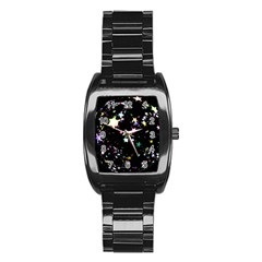 Star Ball About Pile Christmas Stainless Steel Barrel Watch