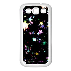 Star Ball About Pile Christmas Samsung Galaxy S3 Back Case (White)