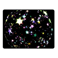 Star Ball About Pile Christmas Double Sided Fleece Blanket (Small)