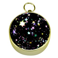 Star Ball About Pile Christmas Gold Compasses