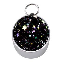 Star Ball About Pile Christmas Mini Silver Compasses