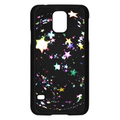 Star Ball About Pile Christmas Samsung Galaxy S5 Case (black)