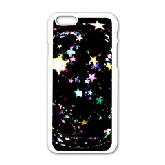 Star Ball About Pile Christmas Apple iPhone 6/6S White Enamel Case