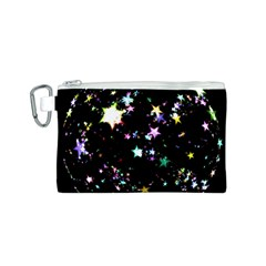Star Ball About Pile Christmas Canvas Cosmetic Bag (S)