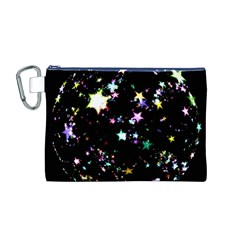Star Ball About Pile Christmas Canvas Cosmetic Bag (M)