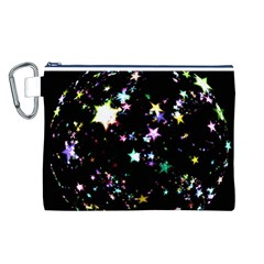 Star Ball About Pile Christmas Canvas Cosmetic Bag (L)