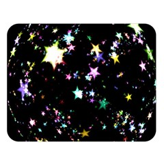 Star Ball About Pile Christmas Double Sided Flano Blanket (Large)