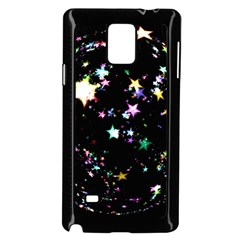Star Ball About Pile Christmas Samsung Galaxy Note 4 Case (Black)