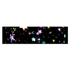 Star Ball About Pile Christmas Satin Scarf (oblong)