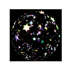 Star Ball About Pile Christmas Small Satin Scarf (Square)