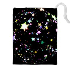 Star Ball About Pile Christmas Drawstring Pouches (XXL)