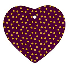 Star Christmas Red Yellow Ornament (Heart)