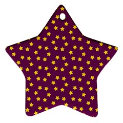 Star Christmas Red Yellow Ornament (Star)