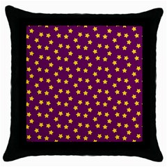 Star Christmas Red Yellow Throw Pillow Case (Black)