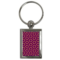 Star Christmas Red Yellow Key Chains (Rectangle)
