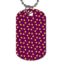 Star Christmas Red Yellow Dog Tag (One Side)
