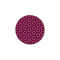 Star Christmas Red Yellow Golf Ball Marker (4 pack)