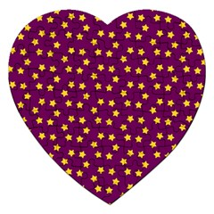 Star Christmas Red Yellow Jigsaw Puzzle (Heart)