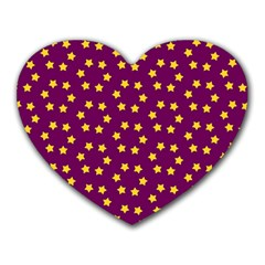 Star Christmas Red Yellow Heart Mousepads