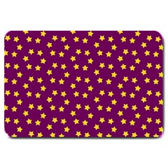 Star Christmas Red Yellow Large Doormat
