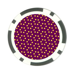Star Christmas Red Yellow Poker Chip Card Guard