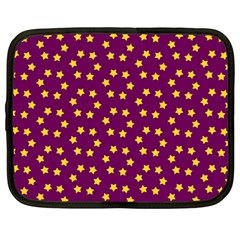 Star Christmas Red Yellow Netbook Case (Large)